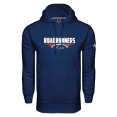 Under Armour Navy Performance Sweats Team Hood-Roadrunners Football Horizontal