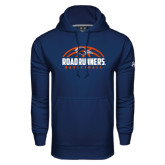 Under Armour Navy Performance Sweats Team Hood-Roadrunners Basketball Half Ball