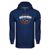 Under Armour Navy Performance Sweats Team Hood-Roadrunners Basketball Arched