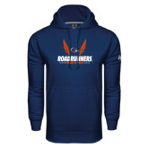 Under Armour Navy Performance Sweats Team Hood-Roadrunners Track & Field Wings