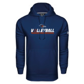 Under Armour Navy Performance Sweats Team Hood-Volleyball Bar