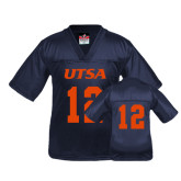 Youth Replica Navy Football Jersey-#12