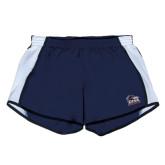 Ladies Navy/White Team Short-Primary Logo