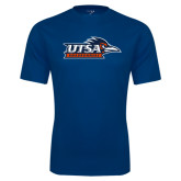 Performance Navy Tee-UTSA Roadrunners w/ Head Flat