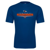 Performance Navy Tee-Roadrunners Football Underline