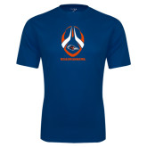 Performance Navy Tee-Roadrunners Football Vertical