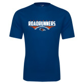 Performance Navy Tee-Roadrunners Football Horizontal
