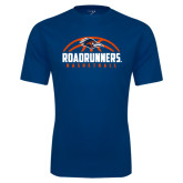 Performance Navy Tee-Roadrunners Basketball Half Ball