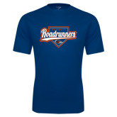 Performance Navy Tee-Roadrunners Baseball Script w/ Plate