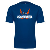 Performance Navy Tee-Roadrunners Track & Field Wings