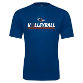 Performance Navy Tee-Volleyball Bar