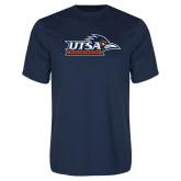 Performance Navy Tee-UTSA Roadrunners w/ Head Flat