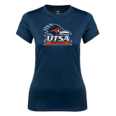 Ladies Syntrel Performance Navy Tee-Football