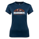 Ladies Syntrel Performance Navy Tee-Roadrunners Basketball Half Ball
