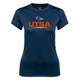 Ladies Syntrel Performance Navy Tee-UTSA Track & Field