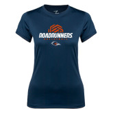 Ladies Syntrel Performance Navy Tee-Roadrunners Volleyball Geometric Ball