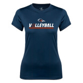 Ladies Syntrel Performance Navy Tee-Volleyball Bar