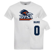 White T Shirt-Primary Logo, Custom Tee w/ name and #