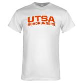 White T Shirt-Arched UTSA