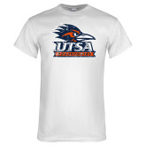 White T Shirt-Primary Logo Distressed