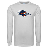 White Long Sleeve T Shirt-Roadrunner Head