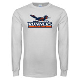White Long Sleeve T Shirt-Runners Athletics