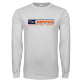 White Long Sleeve T Shirt-Roadrunners Bar w/ Head