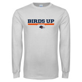 White Long Sleeve T Shirt-Birds Up