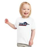 Toddler White T Shirt-UTSA Roadrunners w/ Head Flat