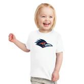 Toddler White T Shirt-Roadrunner Head