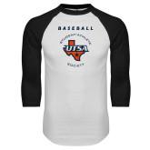 White/Black Raglan Baseball T Shirt-Baseball SAS
