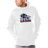 Under Armour White Armour Fleece Hoodie-Primary Logo