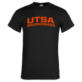 Black T Shirt-Arched UTSA