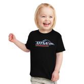 Toddler Black T Shirt-UTSA Roadrunners w/ Head Flat