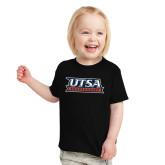 Toddler Black T Shirt-UTSA Roadrunners Stacked