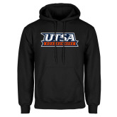 Black Fleece Hoodie-UTSA Roadrunners Stacked