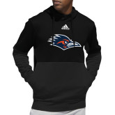 Adidas Black Team Issue Hoodie-Roadrunner Head