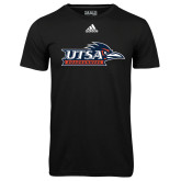 Adidas Climalite Black Ultimate Performance Tee-UTSA Roadrunners w/ Head Flat