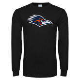 Black Long Sleeve T Shirt-Roadrunner Head