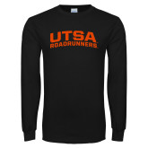 Black Long Sleeve T Shirt-Arched UTSA