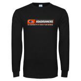 Black Long Sleeve T Shirt-Roadrunners Bar w/ Head