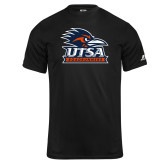 Russell Core Performance Black Tee-Primary Logo