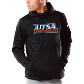 Under Armour Black Armour Fleece Hoodie-UTSA Roadrunners Stacked