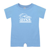 Light Blue Infant Romper-Primary Logo