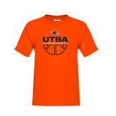 Youth Orange T Shirt-UTSA Basketball Half Ball