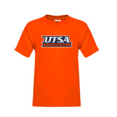 Youth Orange T Shirt-UTSA Roadrunners Stacked