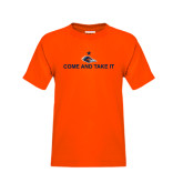 Youth Orange T Shirt-Come and Take It Flat