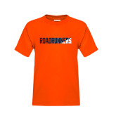 Youth Orange T Shirt-Roadrunners Two Tone Diagonal