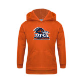 Youth Orange Fleece Hoodie-Primary Logo