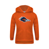 Youth Orange Fleece Hoodie-Roadrunner Head